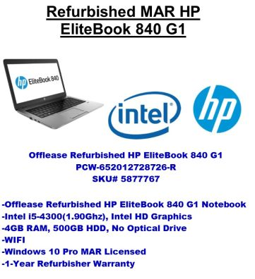 PC Wholesale Offlease/Refurbished HP EliteBook 840 G1 i5