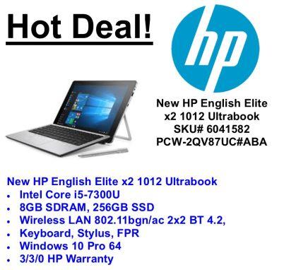 PC Wholesale – New English HP Elite x2 1012 i5 Ultrabook