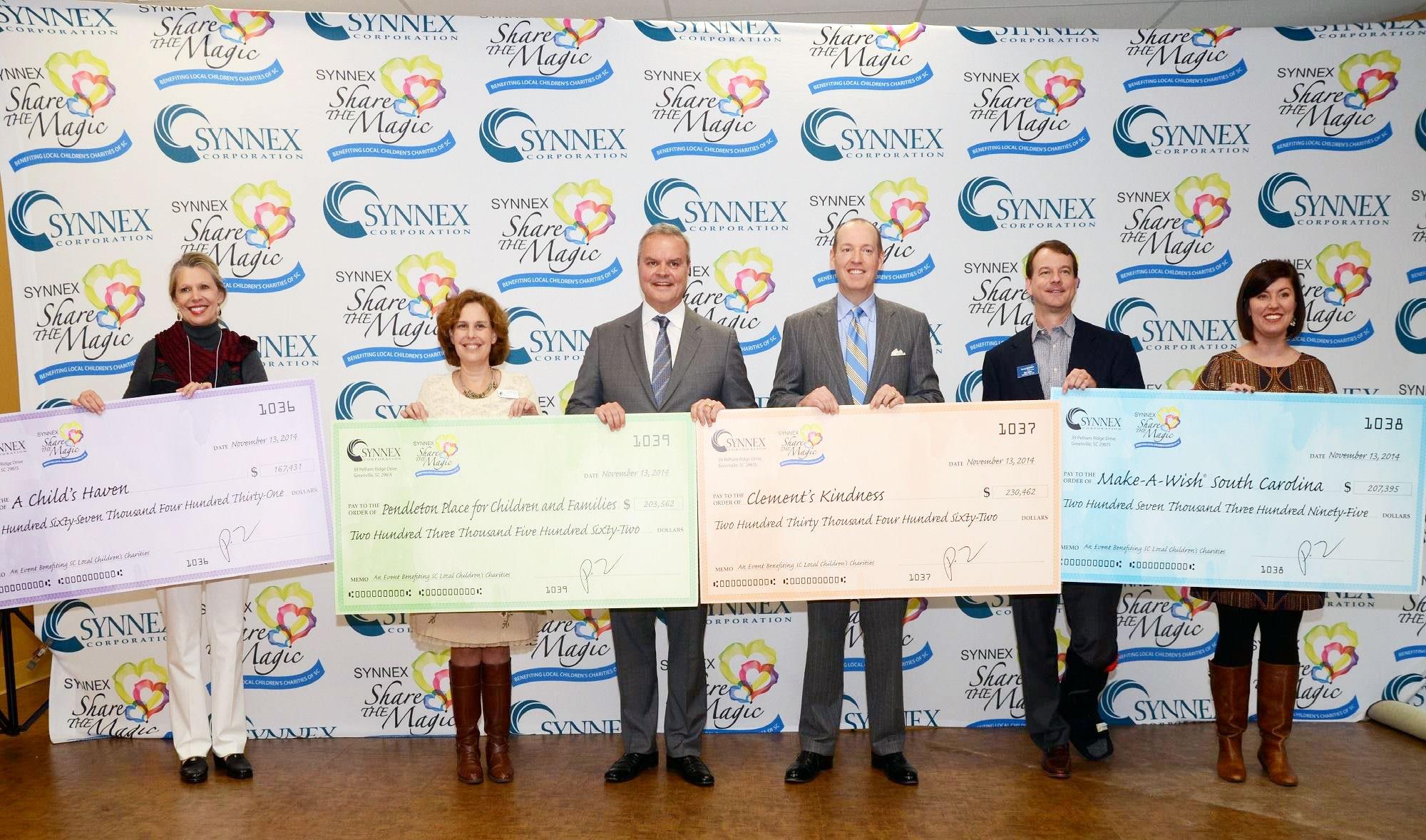 SYNNEX <em>Share the Magic</em> to Present Checks to Upstate Children's Charities