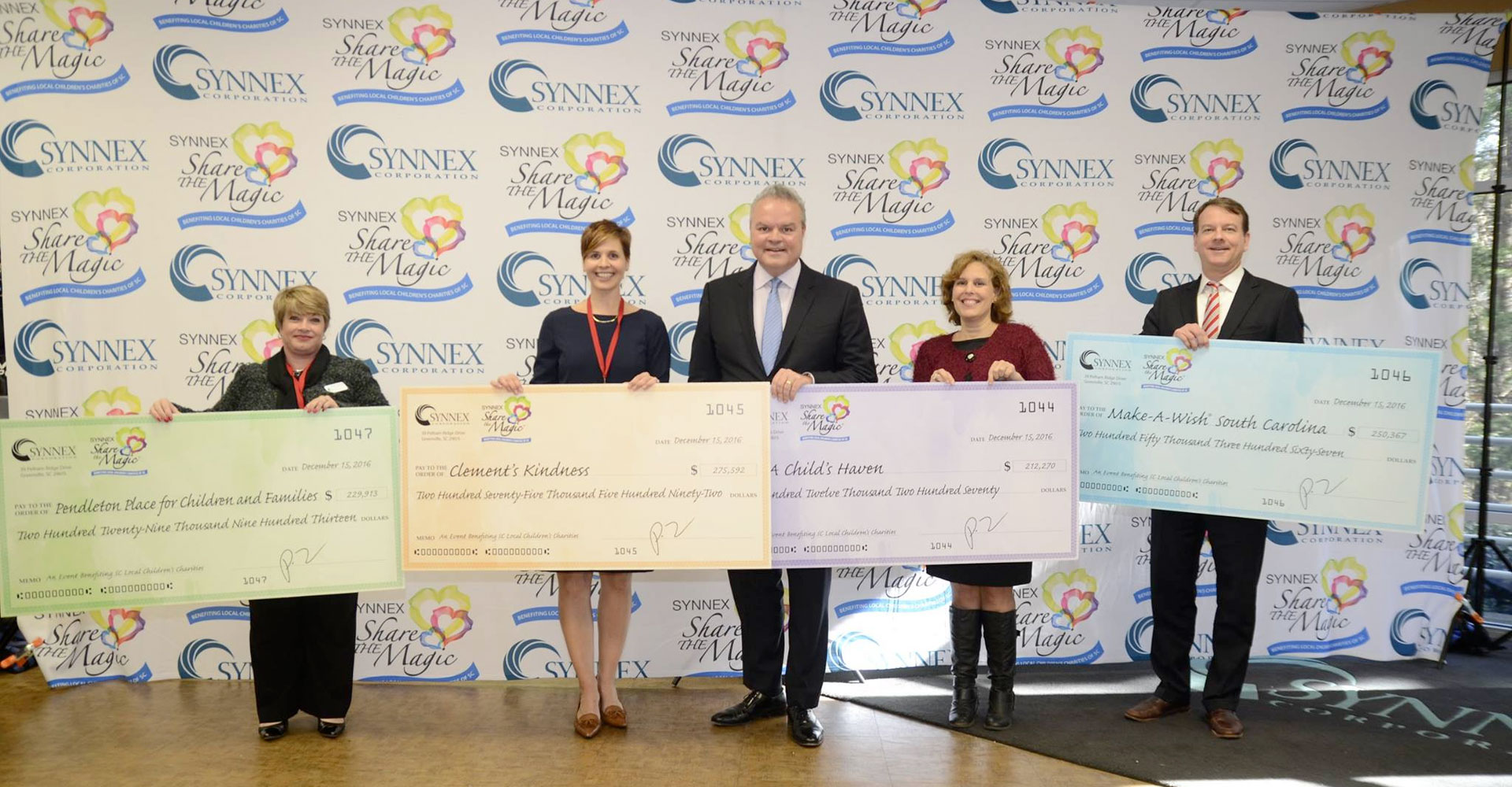 SYNNEX Share the Magic Raises More Than $1.5 Million for Upstate Children's Charities