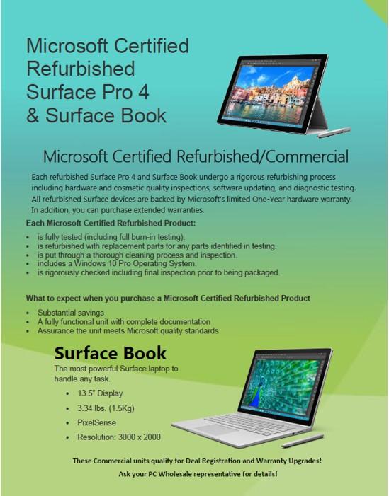 microsoft surface pro 4 surface book